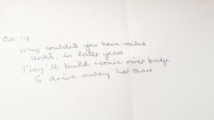letter, note. poem