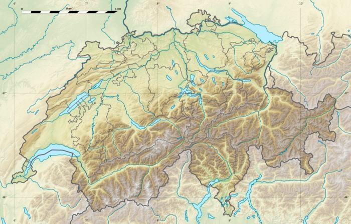 postcard 5Switzerlandmap